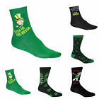 IRELAND IRISH SOCKS SHAMROCK GOLF LUCKY ST PATRICK'S DAY PAIR 6-11 DRINKING GIFT