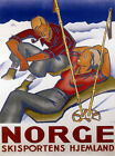 Couple Resting Snow Ski Winter Sport Norway Norge Mountain Poster Repro FREE S/H