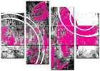 NEW LARGE MODERN CANVAS WALL ART ABSTRACT PINK AND BLACK WALL ART NOVA PINK