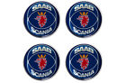 4 x Saab Scania Logo Resin Domed Wheel Centers