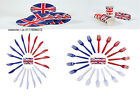 UNION JACK PLATES CUTLERY CUPS JUBILEE OLYMPICS DINING FANCY DRESS ACCESSORY