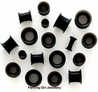Tunnel Black Silicone Earskin Eyelets Tunnels available in sizes 4mm to 30mm