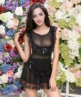 5 COLORS Sexy Lingerie Babydoll Lace Open Crotch Bottom Pantie Thong Bottom NEW