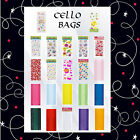 PARTY CELLO (cellophane) BAGS FOR ALL OCCASSIONS, Hearts, Easter, Cupcakes, etc