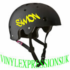 2 X BMX SAFETY HELMET,BMX BIKE PERSONALISED NAME DECALS,STICKERS,SKATEBOARD
