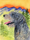 "IRISH WOLFHOUND LOOKOUT FLAG AVAIL IN GARDEN 11x15"" OR HOUSE 28x40"" SIZE"