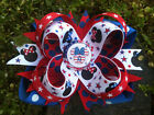 MINNIE PATRIOTIC 4TH OF JULY BOTTLECAP BOUTIQUE HAIRBOW WITH OPTIONS