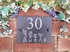 Personalised Natural Slate Stick Family House Name Or Number Door Sign Plaque