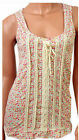 New Evie Ladies Ditsy Print Floral Summer Vest Top-Sizes 6,8,10,12,14,16,18 & 20