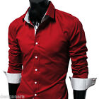 THELEES Men's Casual Long Sleeved Cotton Slim and Snug Fit Shirts COLLECTION-1