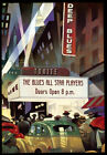 Deep Blues Jazz Night Club Harlem New York Music Vintage Poster Repo FREE S/H