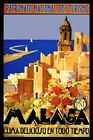 Malaga Spain Great Weather Sailboat Travel Tourism Vintage Poster Repo FREE SH
