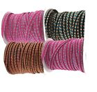 Patterned Edge On velvet textured ribbon 4 Metres available in 4 colours