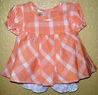 NEW Dress Baby White Orange Cutie Bee Includes Diaper Cover Cotton Polyester
