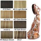 Free Shipping~8pcs Clip In Woman Style Human Hair Extentions 8colors & 2 Length