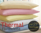 PAIR OF PILLOWCASES WARM THERMAL BRUSHED COTTON FLANNELETTE Choice of Colours image