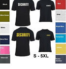 SECURITY T-SHIRT Event Bouncer  Staff Party Guard Police Shirt Tee