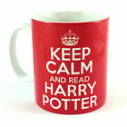 KEEP CALM AND READ HARRY POTTER RETRO CARRY ON DANIEL RADCLIFF GIFT MUG CUP