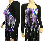 Ladies New  Bolero / Shrug Cardigan  Top - UK Size 10 - 22 (Black)
