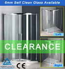 New Quadrant Shower Enclosure Walk In Corner Cubicle Glass Door Stone Tray+Waste