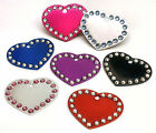 Small Pet Cat Kitten Crystal Heart ID Tag Disc FREE ENGRAVING