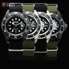 SHARK ARMY Mens Nylon Date Military Sport Luminous Quartz Watch + Gift Box