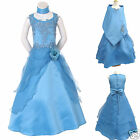 New Little Girl Nation Pageant Wedding Recital Party Formal Dress Blue size 4