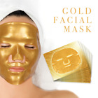 Premium Collagen Crystal Face Masks Anti Ageing Skin Care Gold White x5 x10 x50 <br/> Professional Gold Masks - All Quantities Available