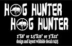 Hog Hunter Decals Set of Two wild boar car truck window vinyl sticker graphic