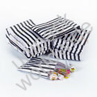 Black Candy Stripe Gift Wedding Paper Party Bags **Choose own Size & Quantity**