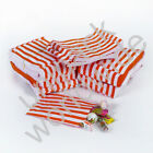 Red Candy Stripe Gift Wedding Paper Party Bags **Choose own Size & Quantity**