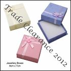 3 Jewellery Gift Boxes 8 x 7cm for Earrings Necklaces or Bracelet Any 3 Colours