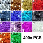 400x pcs loose black/white/red/pink/blue/green color SEQUIN TRIM 8mm wide(U Pick