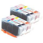 6 Ink Cartridges to replace Canon CLI-526 (C/M/Y) Compatible for Printers