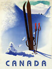 Canada Ski Winter Race Sport Skis Alps Mountain Vintage Poster Repro FREE S/H