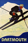 Dartmouth Ski Winter Sport Jumping Mountain Alps Vintage Poster Repro FREE S/H