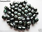 100pcs Natural Black Jet Hematite Gemstones Drum Spacer Beads 3mm 4mm 6mm 8mm