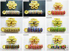 100Pcs Czech Crystal Rhinestones Gold Rondelle Spacer Beads 4mm 5mm 6mm 8mm 10mm