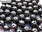 100Pcs Natural Hematite Gemstones Round Beads 2mm 3mm 4mm 6mm 8mm 9m 10mm 12mm