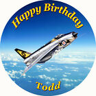 Personalised RAF Lightning Fighter Aircraft Edible Wafer Cake Toppers