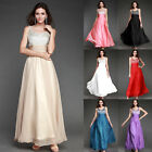 Charming Chiffon Double V Formal Gown Long maxi Evening Dress Bridesmaids prom