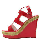 Ed Hardy Red Womens La Jolla Wedge Sandal
