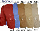 MENS CHINO TWILL COMBAT SUMMER SHORTS RED BLUE SAND BEIGE STONE 40 42 44 46