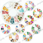 1 Mixed 3D Fimo Clay Slice Wheel 9 Styles Nail Art Tips Gems Decoration