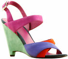 Armani Suede Multicoloured Open Toe Wedges RRP £194.99 NOW £136.49