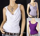 Hot Ladies Cocktail&Club Party&Casual Ruching Plunge V Singlet Tank Top 156