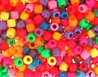 Small Acrylic Pony Beads - Multi colour 6x6mm 100g or 500g 900 beads per 100g