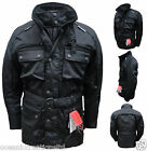 Black CE Armoured Motor Cycle Bike Wind/Waterproof/Thermal/Vented Cordura Jacket