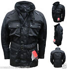 Black CE Armoured Motorcycle Bike Wind Waterproof Thermal Vented Cordura Jacket