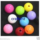 15 pcs 14mm Plastic Lucite Opaque Round Beads c100 U PICK